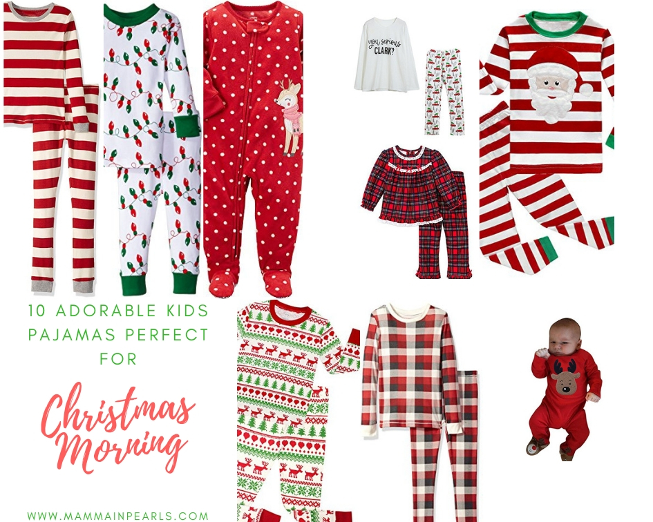 Kids Christmas Pajamas perfect for Christmas morning